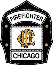 "Chicago Fire Department Decal Helmet Shield 4"""