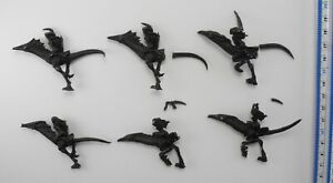 6 MOUNTED DAEMONETTES 3 damaged Metal Slaanesh Chaos Daemons Army Juan Diaz 117