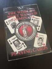 World's Most Wanted Criminals Playing Cards NEW SEALED deck Osama Bin Laden FBI