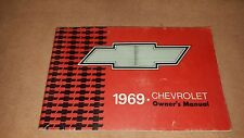 OEM Factory Original 1969 69 Chevy Chevrolet Pass Car Owners Manuals lot of two