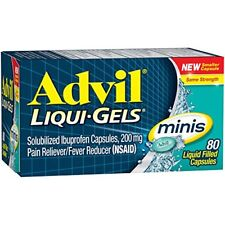 Advil Liqui-Gels Minis Liquid Filled Capsules 80 Count Each