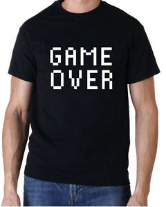 GAME OVER RETRO ARCADE GAMING GIFT T-SHIRT FREE UK POSTAGE