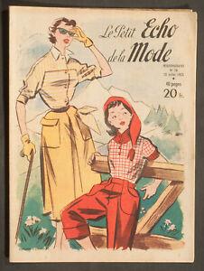 'ECHO DE LA MODE' FRENCH VINTAGE NEWSPAPER SUMMER MOUNTAIN ISSUE 12 JULY 1953