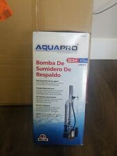 Backup Sump Pump Submersible Water-Powered Pressure Emergency Compact 10 in.