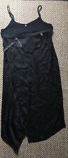 NEW COP. COPINE BLACK ASYMMETRIC DRESS with MEASURING TAPE DETAIL Sz 42 US 10 L