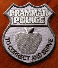 Grammar Police Badge Patch (w/ apple)