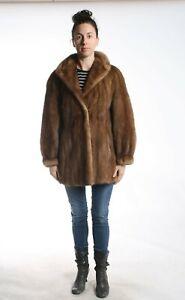 Size XL Great Mahogany Mink Fur Women Coat [84]