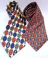 "Tommy Hilfiger-Mens Fashion Neckties-Lot of 2, 100% Italian Silk, 57"""