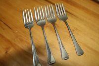 4 Oneida USA Wyndham / Distinction Stainless Steel Flatware Salad Forks