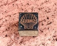 SHELL Gas Logo Letter Press Plate Wood Copper Lead Vintage Printing Block