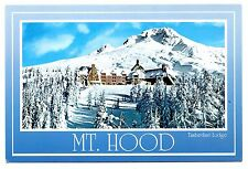 Mt Hood Oregon Postcard Timberline Lodge Sentinel Peak Ski Lodge Snow Unposted