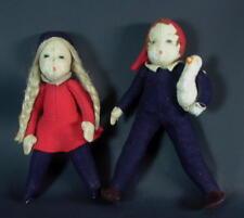 reizendes altes Puppenpaar - Filzkleidung + Kopfnaht mittig