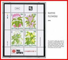 MARSHALL IS. 1991 STAMP SHOW in JAPAN / NATIVE FLOWERS + M/S mnh