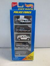 Hot Wheels 5 Car Gift Pack Police Force w Helicopter