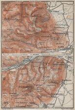 Mont sainte-odile & haut-koenigsbourg. barr. st-hippolyte. bas-rhin carte de 1906