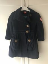 No Added Sugar Girls Navy Wool Winter Coat 2 Years 3 Years