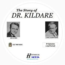 THE STORY OF DR KILDARE - 61 Shows Old Time Radio In MP3 Format OTR 1 CD