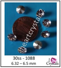 30ss 6.5mm Chaton Crystal Clear Swarovski 1088 Xirius Pointed Back 6 pieces