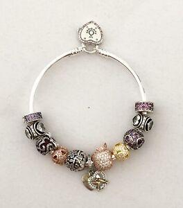 Armband Set Pave Herz Charms Edel Beads Gold Silber 925 Vergoldet 20cm Pandora