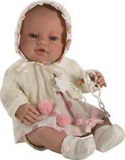Berbesa -Muñeco bebe recién nacido vestido lunares 42 cm vinilo Caja (5112)