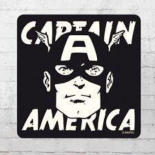 Logoshirt Untersetzer Marvel Captain America Portrait Coaster schwarz Bierdeckel