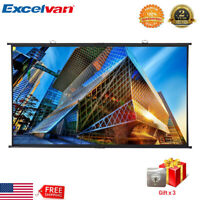 """100"""" 16:9 Portable Projection Projector Screen 3D 4K 1080P Home Theater Movie US"""