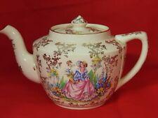 ARTHUR WOOD VINTAGE PRETTY LADY GARDEN FLOWERS  TEA POT w