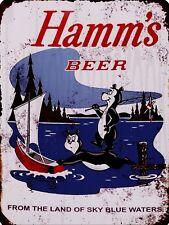 """Hamm's Beer 9"""" x 12"""" Sign"""