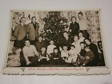 Vintage CHRISTMAS TREE Mid Century MCM Melville Family Photo Card 1956