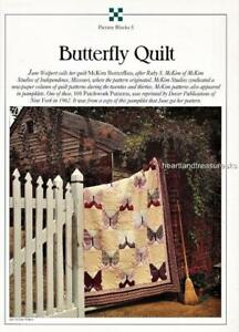 Butterfly Quilt  Best Loved Quilt Pattern Leaflet w/ Flexible Plastic Templates