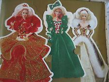 Hallmark Barbie Doll Lot of 3 Collectible Holiday Vtg  Xmas Cards Collection NIB