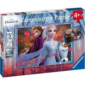 Ravensburger ~Frozen 2 - Frosty Adventures 2 x 24Pc  ~ 4+
