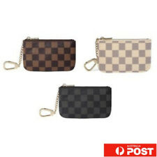 Zip Coin Purse card holder Wallet  Luxury Checkered Damier with Key Chain