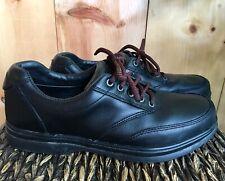 LL Bean Lace-Up Oxfords Men's Size 9 Black Leather Casual Dress Shoes EUC