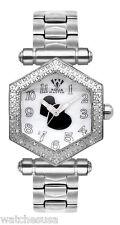 Aqua Master Women's Silver Dial Stainless Steel Diamonds on Bezel Watch W#13