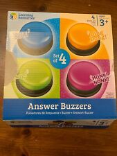 Answer Buzzers School Classroom Speed Game Contest Response Jeopardy Set Of 4 US