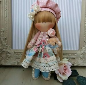 Rag doll handmade in the UK Tilda doll Ooak doll Art doll CLAIRE 8 inch tall