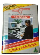 MultiMate Computer Instruction Manual Audio Cassettes Word Processor Vintage IBM