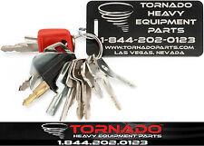 12 Keys Heavy Equipment / Construction Ignition Key Set