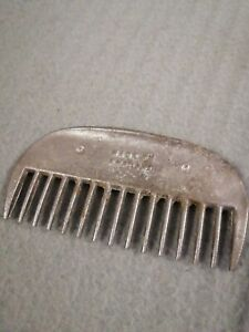 Vintage Aluminum Horse Mane Comb. Made In England
