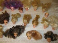 One 1980,Three 1998 2 Disney & Lovely Patsy + mixed lot of 21 Barbie heads