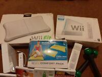 Nintendo Wii Console Bundle - Wii Fit Board & Games