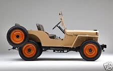 1945 Willys JEEP CJ2A, Refrigerator Magnet, SIDE VIEW, 40 MIL THICK