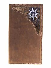 Nocona Mens Western Rodeo Wallet Rowel Cow Hair 11 Credit Card