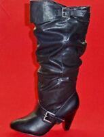 NEW Women's RAMPAGE ELDI Black Knee High Heels Fashion Tall Dress Casual Boots
