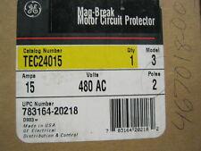 TEC24015 QTY 1 GE MAG BREAK MOTOR CIRCUIT PROTECTOR