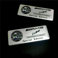 2pcs AMG Affalterbach Logo Aluminum Emblem Sticker for Benz AMG AFFALTERBACH 3D