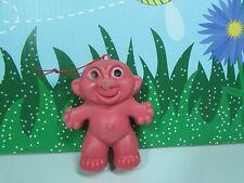 "VINTAGE 1960'S EARLIER PLASTIC HOLLOW TROLL - 4"" Troll Doll - MADE IN HONG KONG"