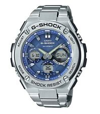 Casio G-Shock G-STEEL *GSTS110D-2A Solar Blue & Silver Steel Ivanandsophia