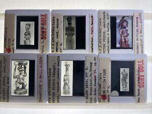 Nail Fetish, Caryatid Stool: Songe Zaire African Tribal Art 6 35mm Slides